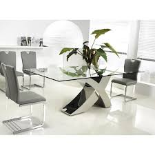 kitchen collection free shipping casabianca home geneva collection steel glass dining table free