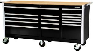 Wood Tool Storage Cabinets Tool Box Ball Bearing 15 Drawer Slides Cabinet Hard Wood Surface
