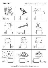 free phonics worksheets er ir ur google search blending words