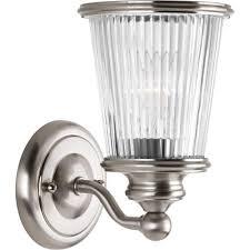 progress lighting orbitz collection 3 light brushed nickel vanity
