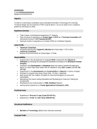 Oracle Financial Consultant Resume Sap Fico Resume Sample Sap Abap Cv Sap Mm Consultant Resume Sap 3