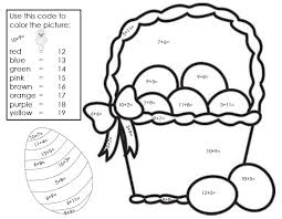 first grade math color number worksheets print coloring first