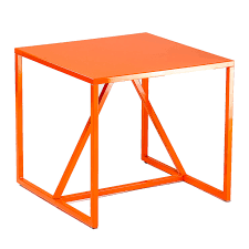 blu dot strut side table orange fab