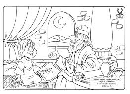 samuel served as a boy coloring page children u0027s bible coloring