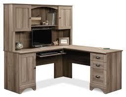 Secretary Desk And Hutch by Harbor View Corner Desk With Hutch U2013 Salt Oak The Brick