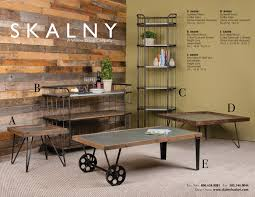 go for the industrial look with wood and metal furniture pieces