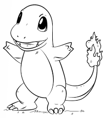 charmander pokemon coloring page free printable coloring pages