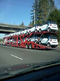 car carrier truck car carrier with 14 smart cars imgur