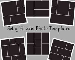 set of 6 5x7 round corner photo template collage story board