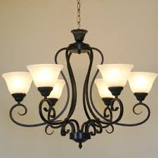 Country Chandelier Vintage America Country 6 Heads Black Iron Chandelier Pendant With