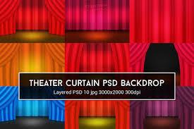 theater curtain psd backdrop textures creative market