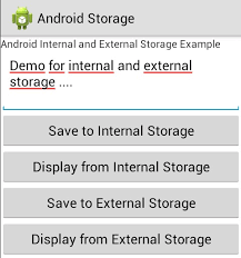 how to save to android android and external storage exle store and retrieve