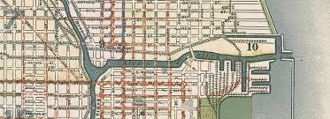 chicago map streets chicago in the 1890s