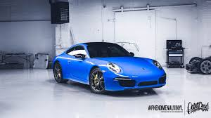 porsche wrapped car wrapping phenomenalvinyl
