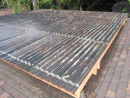 Clear Patio Roofing Materials by How To Build A Diy Decking Cover Permaculture Magazine