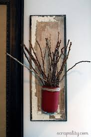 Wood Wall Sconce Mason Jar And Reclaimed Wood Wall Sconces