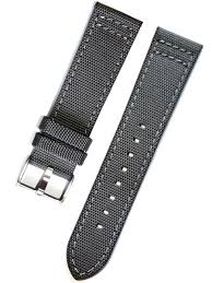 bracelet strap watches images Toscana gray canvas with leather backing watch strap ins can31 jpg