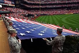 American Flag Words Worth A Thousand Words Ballpark Patriotism Dodlive