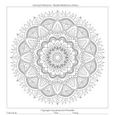 mandala meditations lotus heart collection coloring pages