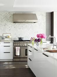 Houzz Kitchen Tile Backsplash by Herringbone Pattern Mosaic Tile Wood Flooring