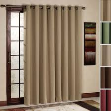 Curtain Rods French Doors Dark Brown Wooden Frame For Glas Patio Door Using Khaki Drappery