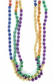 mardi gras beaded necklaces rainbow mardi gras bead necklaces 1 dz toys