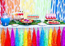Rainbow Party Decorations Interior Design Top Rainbow Themed Birthday Party Decorations