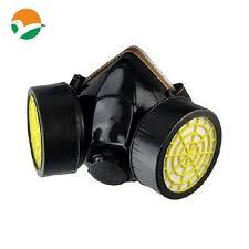 Masker Gas pelindung respirator setengah masker gas dengan kacamata masker debu