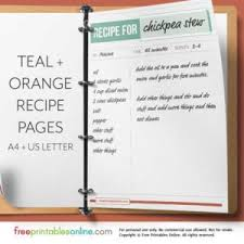 free printable recipe pages printable recipe pages free printables online