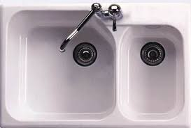 Kitchen Sinks Drop In Double Bowl by Rohl 6317 00 33 Inch Allia Double Basin Drop In Fireclay Kitchen