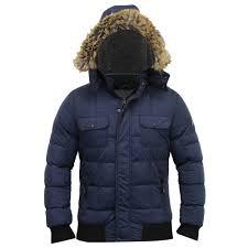 mens jacket dissident short parka coat padded sherpa fleece hooded