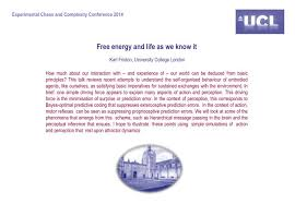 ppt free energy and life as we know it karl friston university