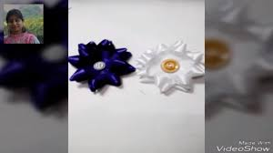Flowers By Violet - how to make ribbon flowers by carton piece super easy method to