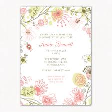 baby shower invitation floral meadow printable baby