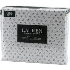 Ralph Lauren Sheet Set Ralph Lauren Blue Anchor Full Sheet Set 2 Pillowcases White