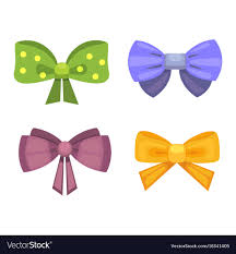 gift bows gift bows with ribbons color vector image