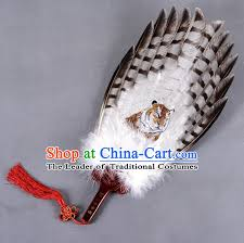 large feather fans traditional crafts folding fan china eagle feather large