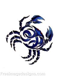 tribal blue crab image design download free image tattoo designs