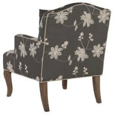 Decor Chairs Linon Home Decor Gray Floral Polyester Arm Chair 368312gry01u