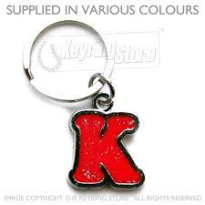 letter k alphabet enamel keyrings letter keychains the keyring
