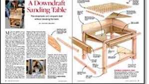 delta downdraft sanding table a downdraft sanding table finewoodworking