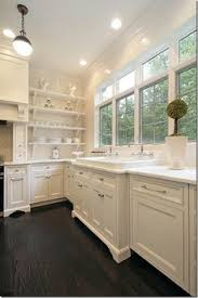 Wood Kitchen Cabinets With Wood Floors by 30 Spectacular White Kitchens With Dark Wood Floors Gray Painted