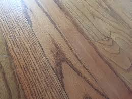 Hardwood Floor Scratch Repair Dent Deep Scratch In Our Hardwood Floors Courtesy Of Ash Appliance
