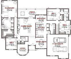 floor plans for a 4 bedroom house floor plan narrow rustic two master tiny depth bathrooms
