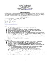 Sample Resume Patient Care Assistant by Resume Froelich Anthony Construction Management