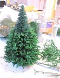 mini lights for christmas village how to make amazing miniature trees http www flickr com photos