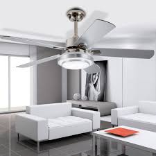 Ceiling Fan For Living Room by Colorled Modern Simple Three Changing Color Stainless Steel Led