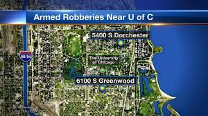 Chicago On Map University Of Chicago On Alert Following Armed Robberies Near