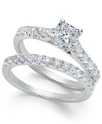 macy s wedding rings sets princess womens engagement and wedding rings macy s
