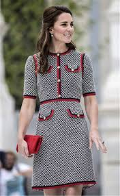 kate middleton dresses kate middleton dress red trims black and white tweed sheath dress